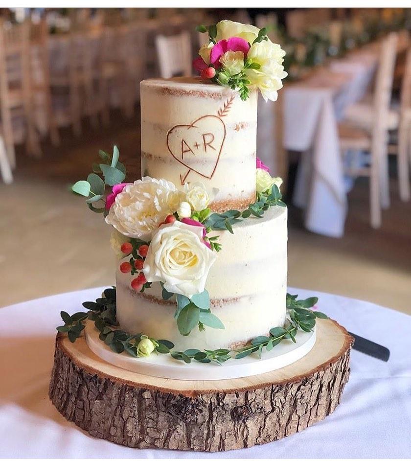 Naked Cake Formal Wedding