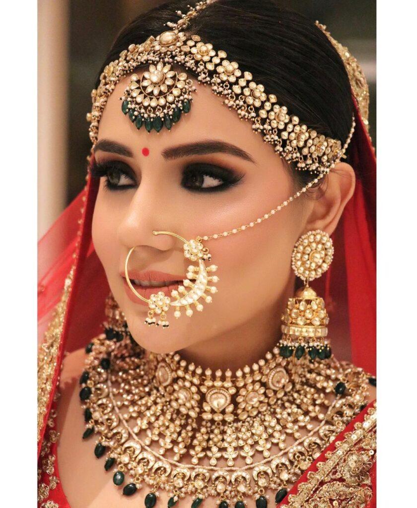 Bridal Mathapatti Design Heavy