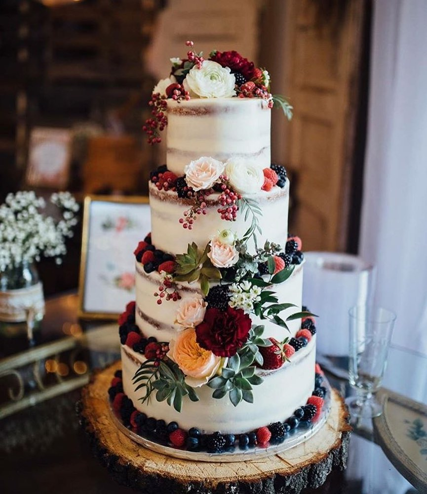 Exposed Tier Wedding Cake