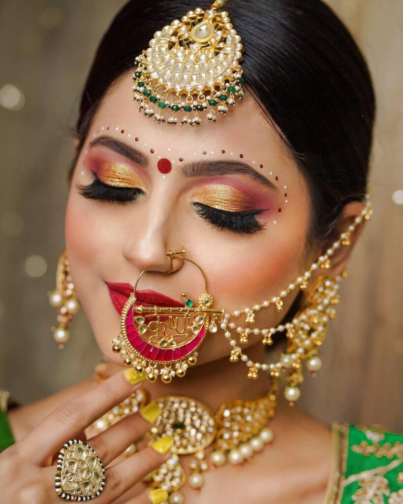 Traditional Indian Bridal Makeup Look