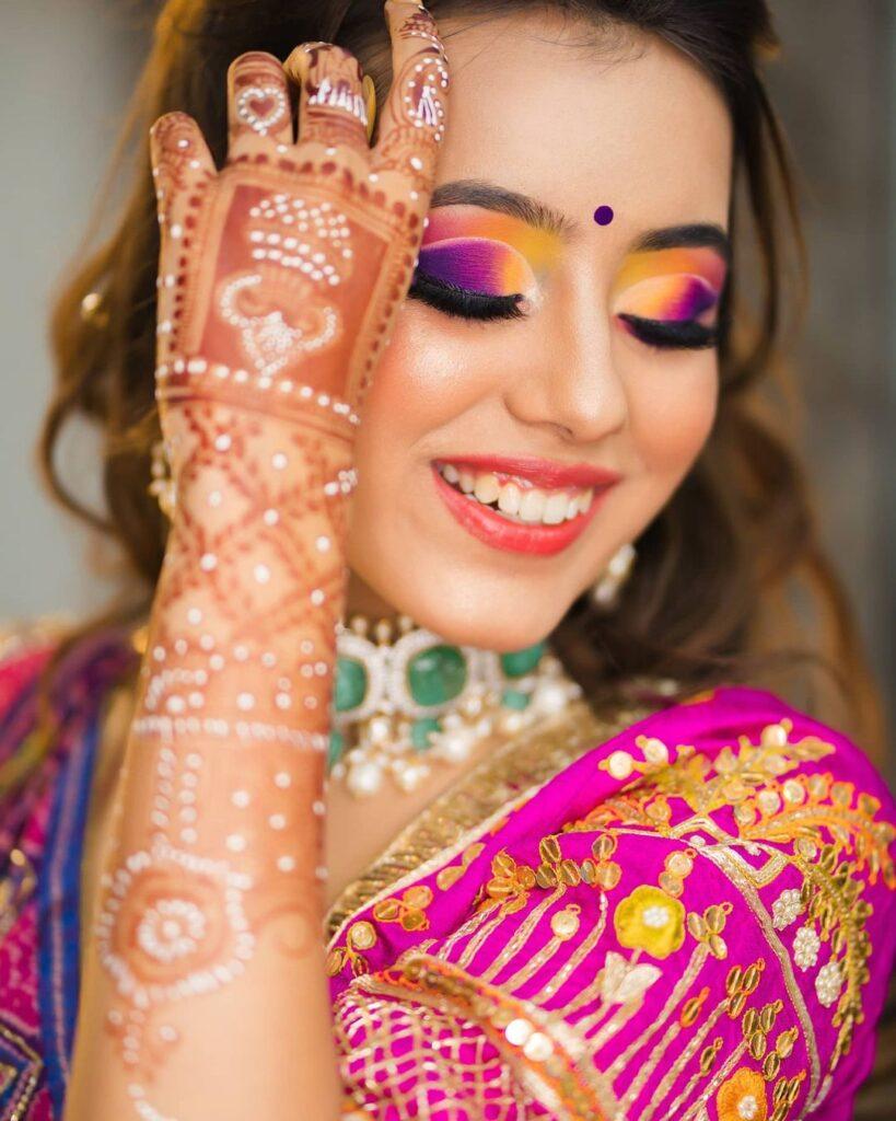 Colored Eye Shadow Bridal Makeup
