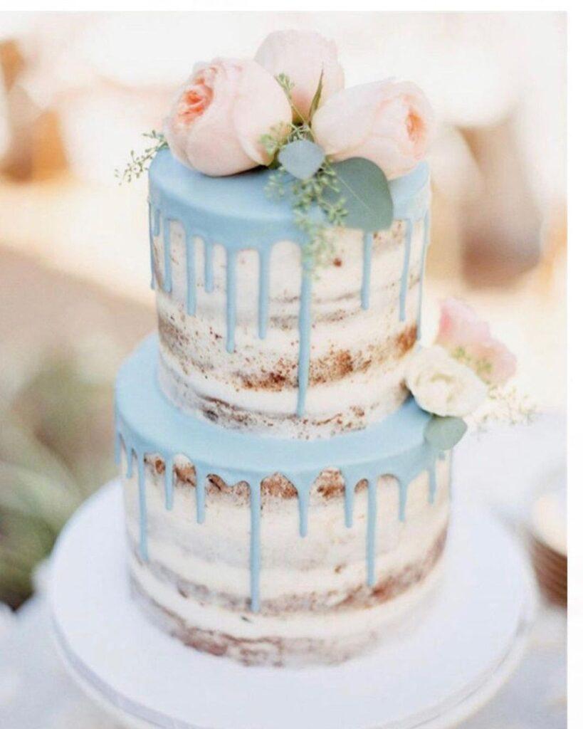 Unique Naked Wedding Cake Idea