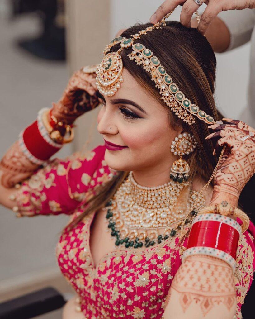Meenakari Brides Mathapatti