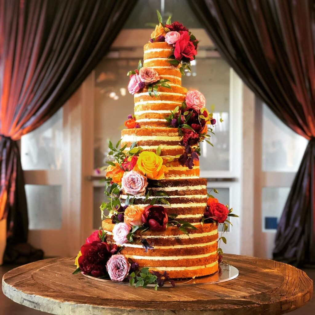 Five Tier Naked Cake