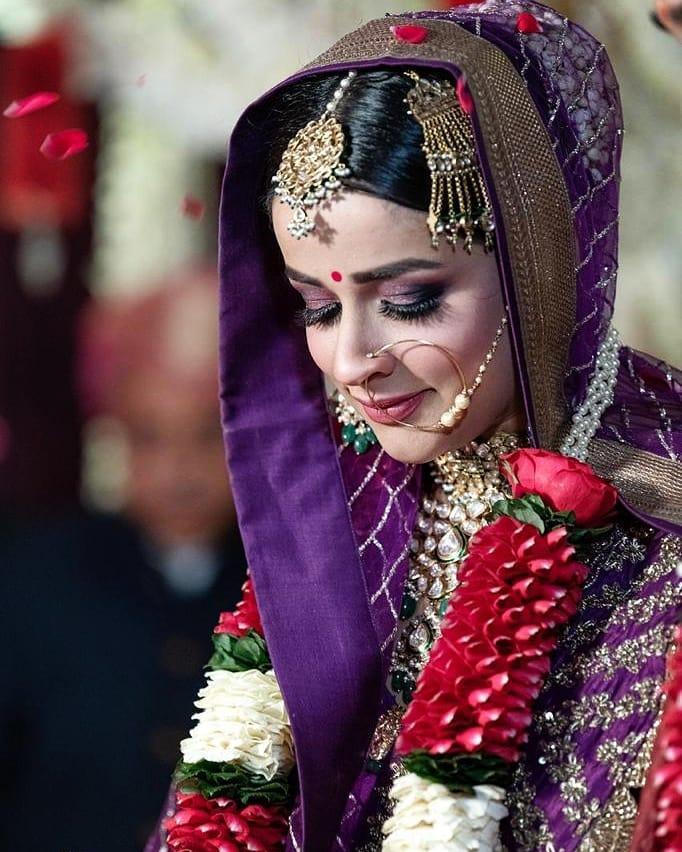 Smokey Purple Eye Makeup bridal