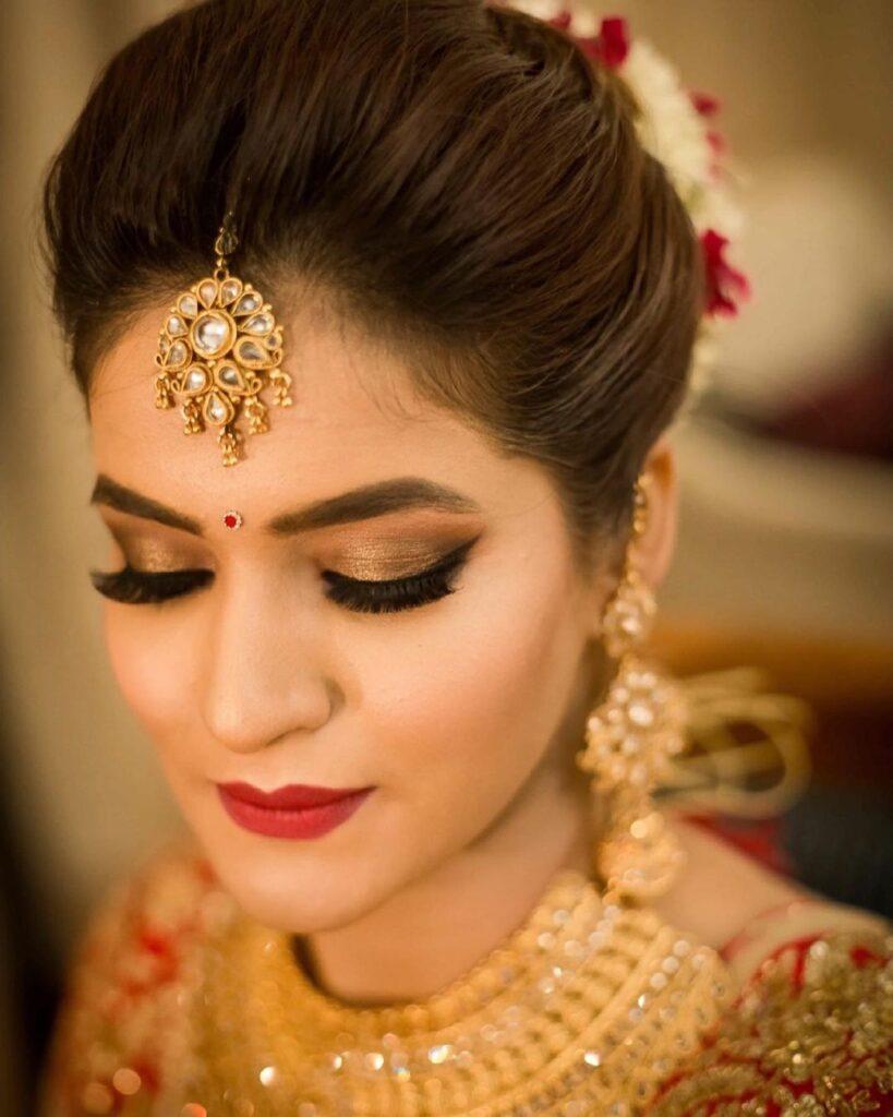 Golden Eye Bridal Makeup