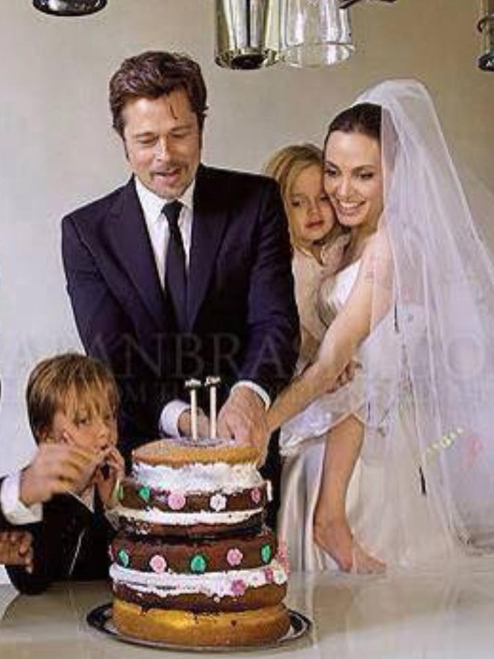 Angelina Jolie Brad Pitt Wedding Cake
