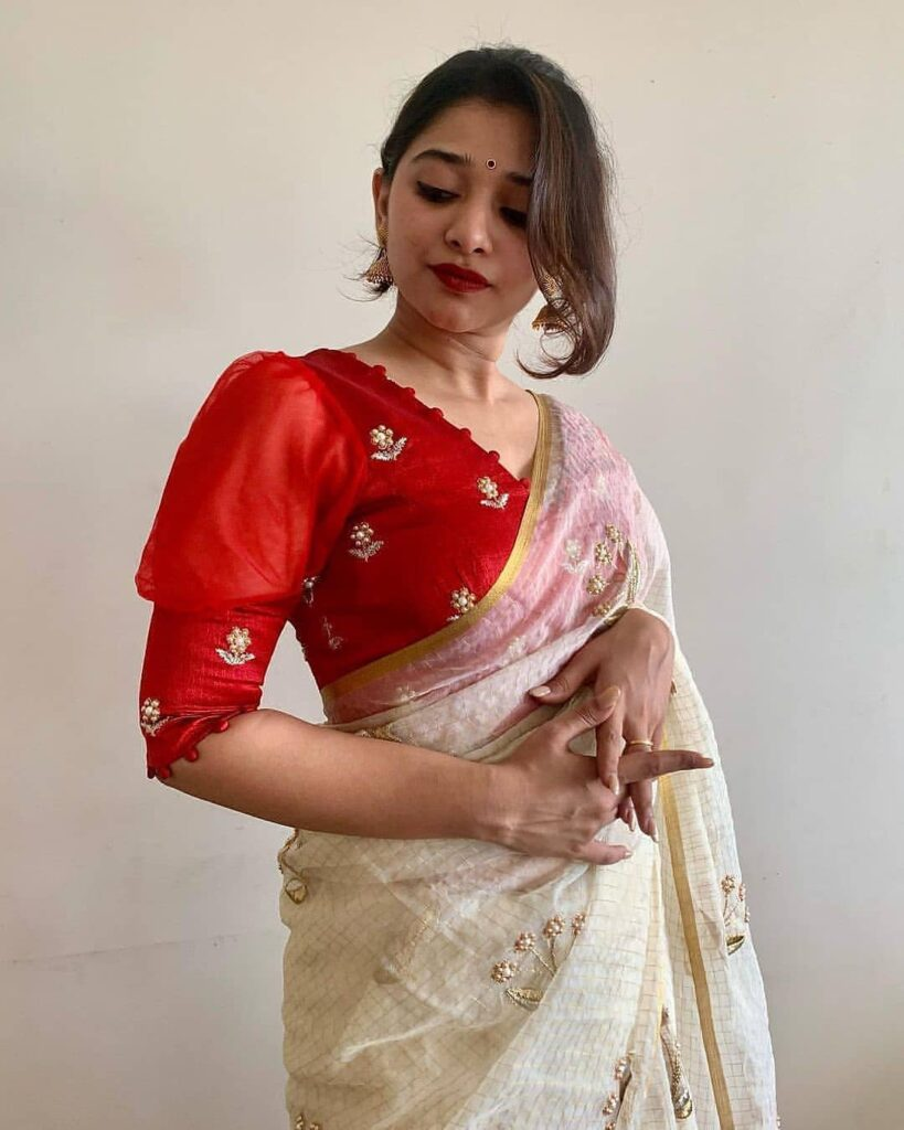 SImple Saree Blouse Pattern