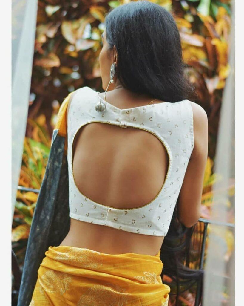 Back Cut Saree Blouse