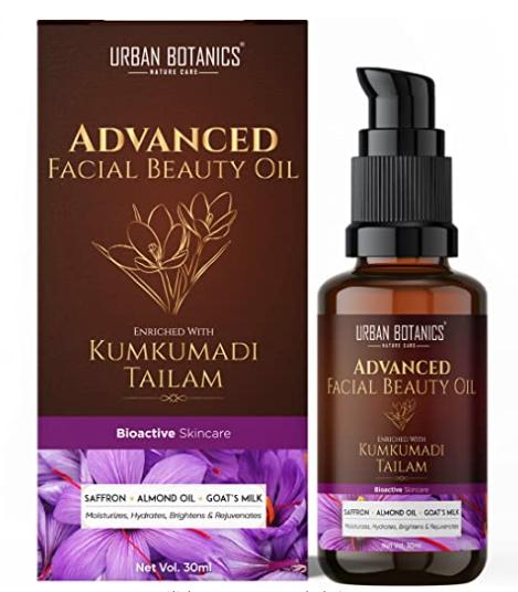Urban Botanic Kumkumadi Beauty Oil