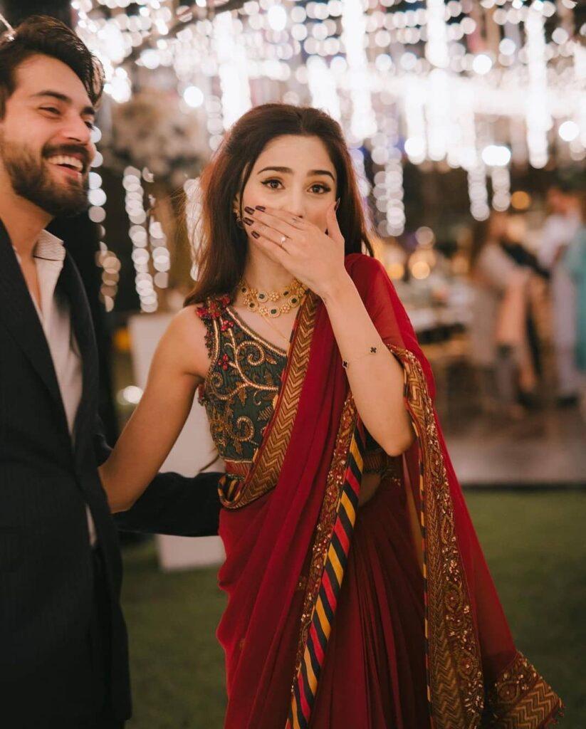 Engagement Saree For Intimate Roka